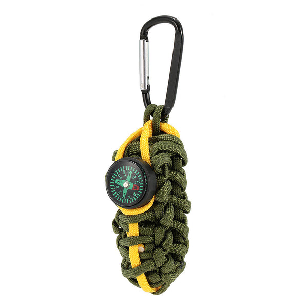 Paracord for Emergency with Compass Self Help Outdoor Camping Hiking Emergency Tool