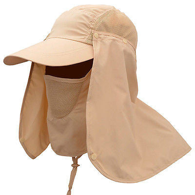 Detachable Sunshade Hat Fishing Hiking Hat Outdoor Sport UV Sun Protection Neck Face Flap Cap