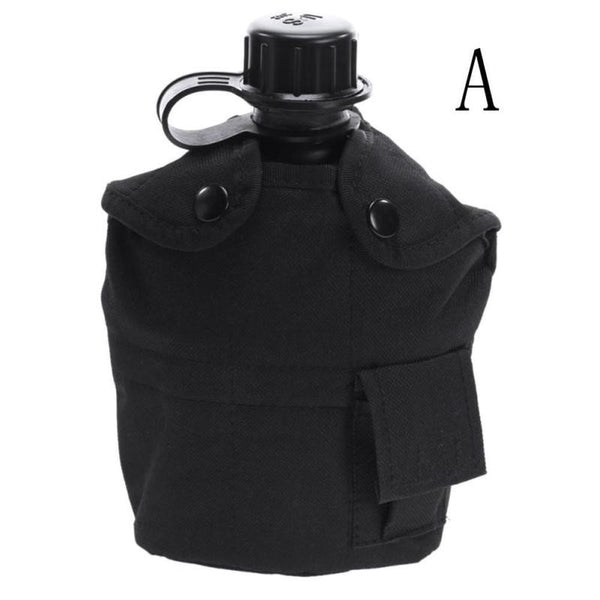 Military Molle Tactical Water Bottle Bays Outlook Kettle Carrier Holder Hiking Bicycle Camping Sport Water Bag
