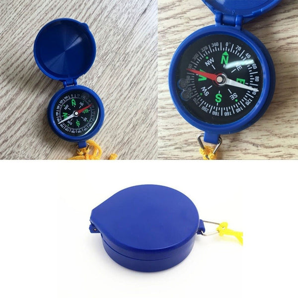Plastic Compass Key Chain for Camping Hiking