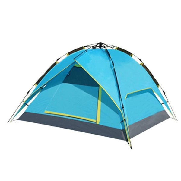 3-4 Person Portable Outdoor Waterproof Folding Tent Automatic Rope Pulling with Double Layers for Camping Hiking Backpacking