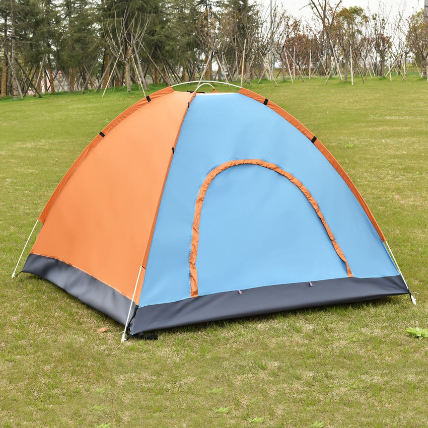 Costway Waterproof 2-3 Person Camping Tent Traveling Outdoor Hiking Double Layer w/ Bag