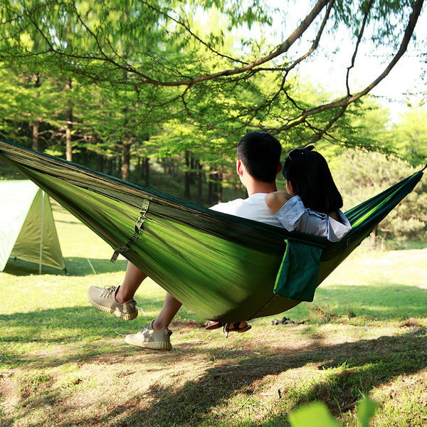 Portable Lightweight Parachute Nylon Camping Mosquito Nets Hammocks for Outdoor Hiking Travel Backpacking Style 7