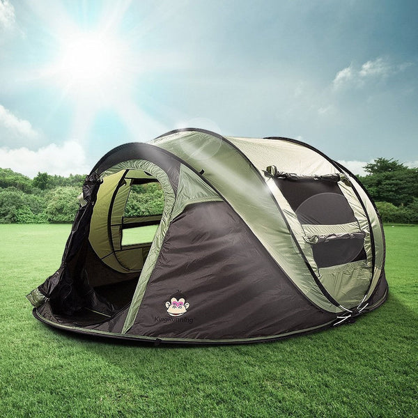 4-Person Dome Tent Instant Cabin Family Camping Tent w/ Anti-UV For Hiking