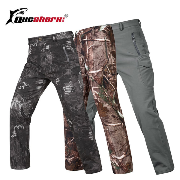 Men Military Softshell Camping Pants Windproof Tactical Hiking Trousers Sports Multi-pockets Combat Training Trekking Pants