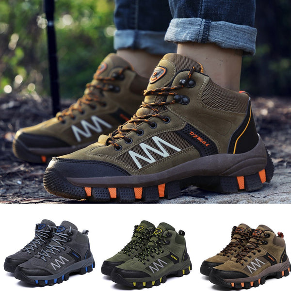 Casual Men's Lace-Up  Sport Running Shoes Wear Resistant  Keep Warm Hiking Shoes