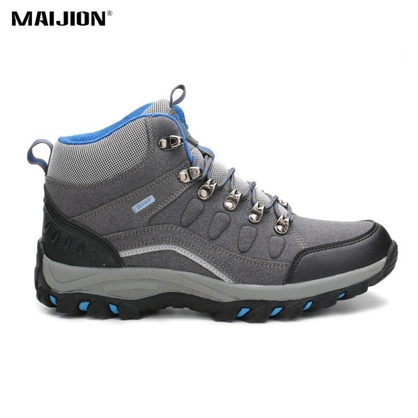 MAIJION Winter Keep Warm Hiking Shoes Men Durable Soft Waterproof Sneakers Outdoor Climbing Sports Non-slip Trekking Shoes Women
