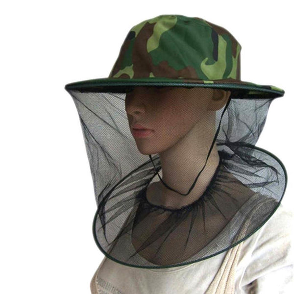 Outdoor Hiking Camping Multi-function Anti-mosquito Cap Fishing Cap Camouflage 0.09kg