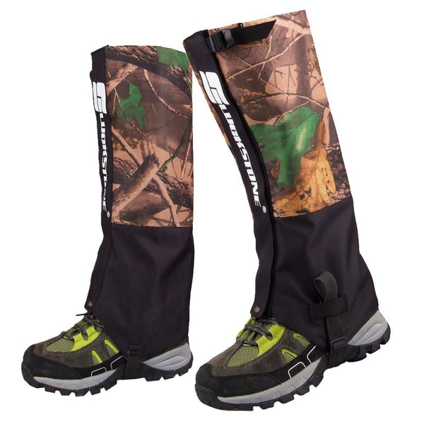 2Pcs 2 Layers Outdoor Waterproof Hiking Hunting Camouflage Gaiters