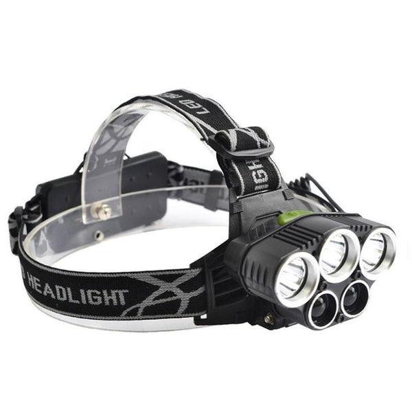 T6 5LED Super Bright White LED Headlamp Torch Light for Camping Hiking Hunting