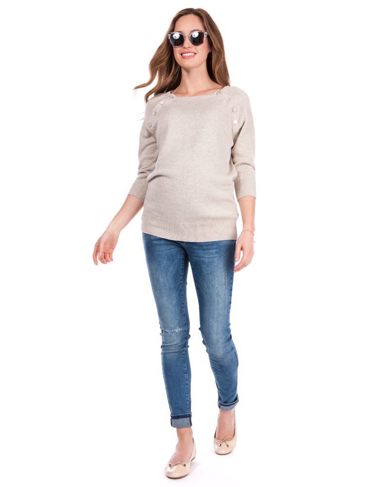 Donna Buttoned Maternity