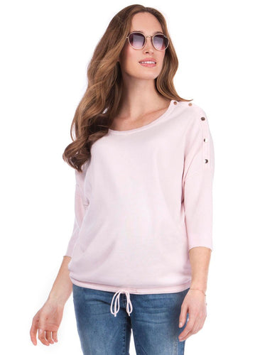 Gabbie Drawstring Hem Oversized Jumper BLUSH