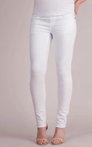 Alexis Slim White Maternity Jeans