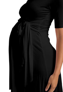 Melissa Wrap Dress Black
