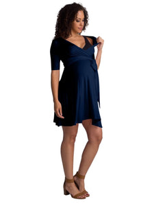 Melissa Wrap Dress Navy
