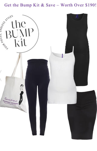 New York Bump Maternity Kit - Maternity Dress, S/S Top, Leggings & Skirt