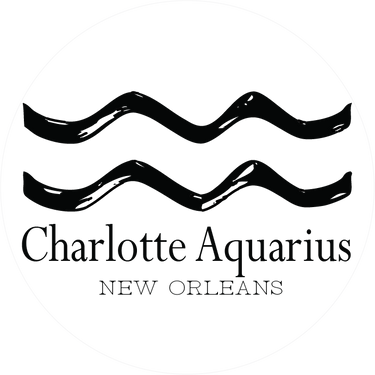 Charlotte Aquarius' logo - playful and upbeat wallpaper and stationery