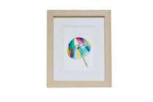 Load image into Gallery viewer, Colorful Umbrella Watercolor Art, Vacation Umbrella Art Print, House Warming Gift, Kids room art, fun art prints, adult gifts, stationery and gifts,  new home owner gifts