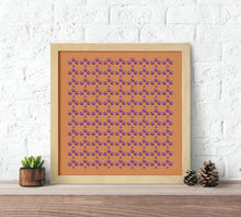 Load image into Gallery viewer, orange neckerchief, Keepsake Neckerchief, Stole Scarf, cotton and silk scarves, pattern scarf, orange scarf, orange shawl, shawl, rust scarf, rust and purple scarf, fig scarf, decorative scarf, cotton scarf, silk scarf, bandana scarf, bandanas, chic bandana, orange bandana