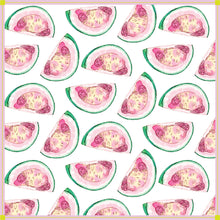 Load image into Gallery viewer, bohemian scarf, pretty scarves, stylish scarves, colorful scarf, pink scarf, pink and green scarf, gifts for her, scarf lovers, bohemian scarf headband, scarf headbands, scarf necklace, handbag accessories, head scarves, bright luxe silk scarf, opulent scarf, bandana scarf, head scarf, square silk scarf, neon colored scarf, preppy scarves