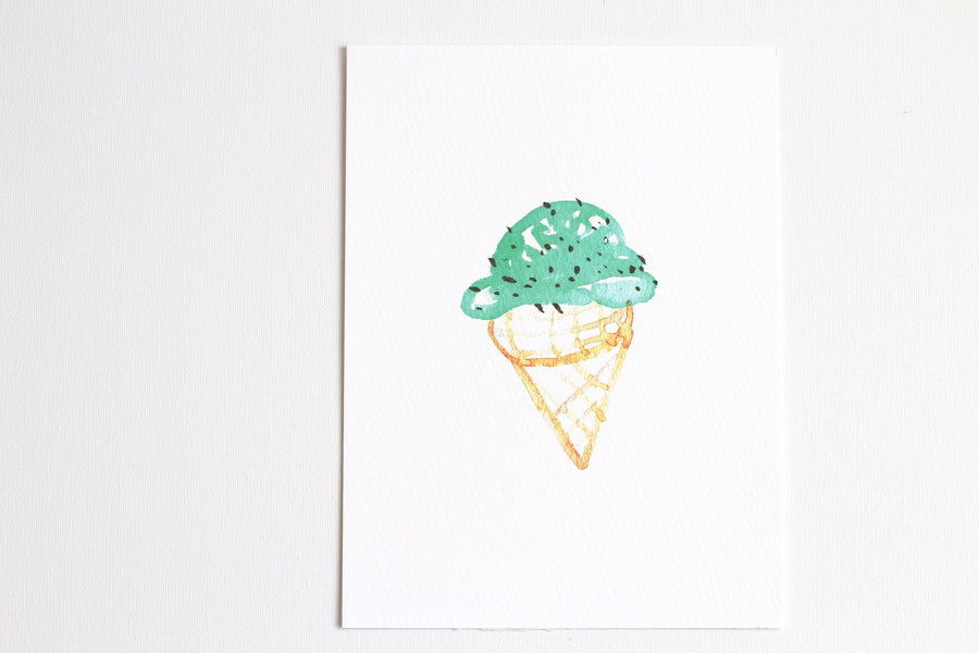 Hand Painted Watercolor Art Print, Art Illustration