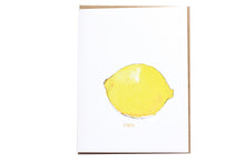 Load image into Gallery viewer, Lemon Fruit Greeting card, Watercolor Lemon Stationery, Blank Note Card, Stationery and Gifts, Stationery Lovers, Minimalist Stationery