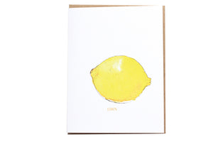 Lemon Fruit Greeting card, Watercolor Lemon Stationery, Blank Note Card, Stationery and Gifts, Stationery Lovers, Minimalist Stationery