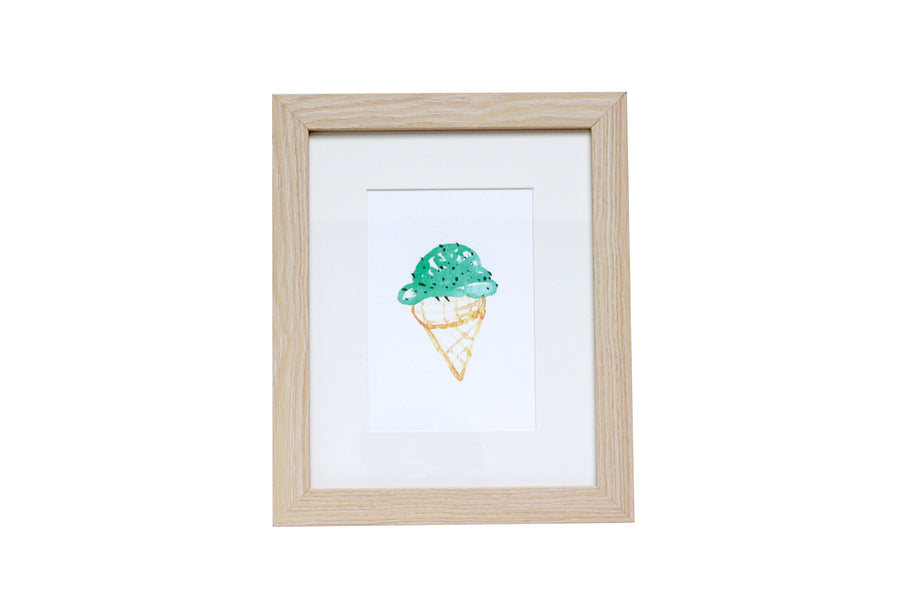 Fine art wall art, Food Art, Confection Art, Ice Cream Watercolor Art, Mint Chocolate Chip Watercolor Art, Minimalist art, Drawing & Illustration, Wall Decor, Wall Art, Art & Collectibles, Ice Cream Art Print