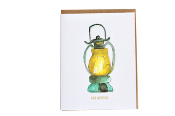 New Orleans Inspired Greeting card, Gas Lantern Greeting Card, Vacation Gifts, Travel Gifts, New Orleans Themed Greeting Card, Gifts for Her, Birthday Gifts, New Orleans Lighting, stationery freak, stationery lovers
