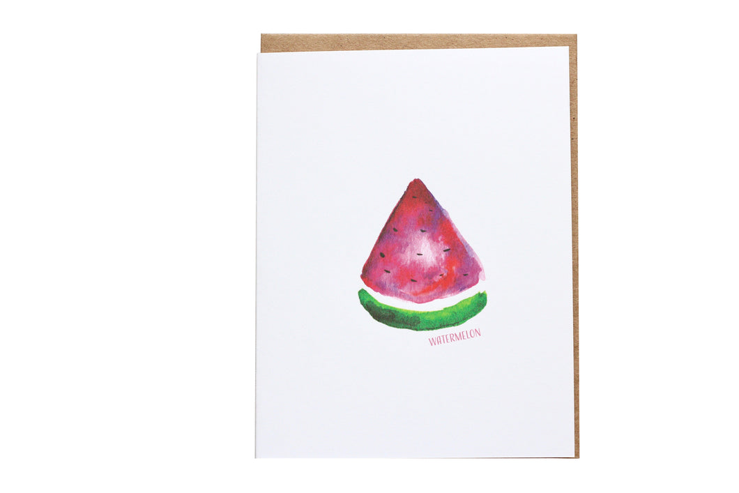 watermelon greeting card, Melon Poppin Greeting Card, Black Girl Magic greeting Card, fruit and vegetable,  food illustration, watercolor fruit, watermelon print, watermelon greeting card, blank note card, food art, stationery lovers gifts, African American reference greeting card, melanin greeting card, black people greeting card, watermelon lovers card
