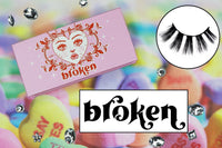 broken lashes - likely makeup