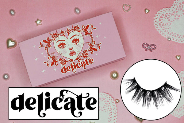 delicate lashes - likely makeup
