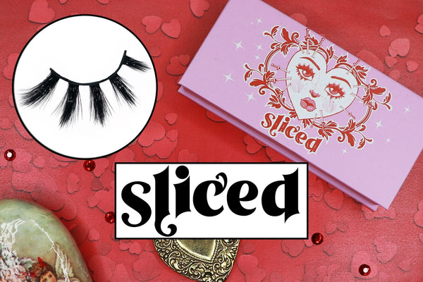 sliced lashes - likely makeup