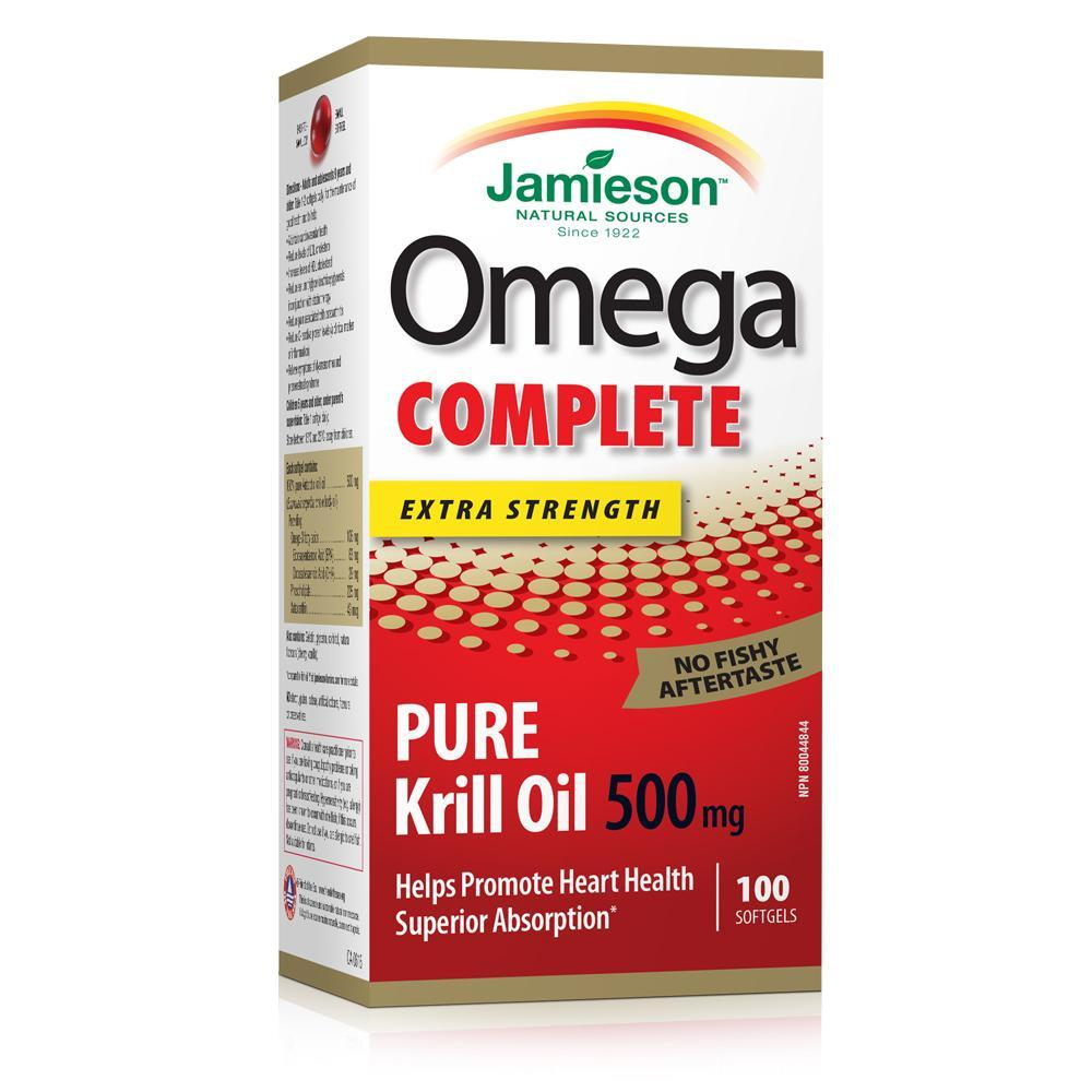 Jamieson Omega Complete Pure Krill Oil 500mg 100 Softgels