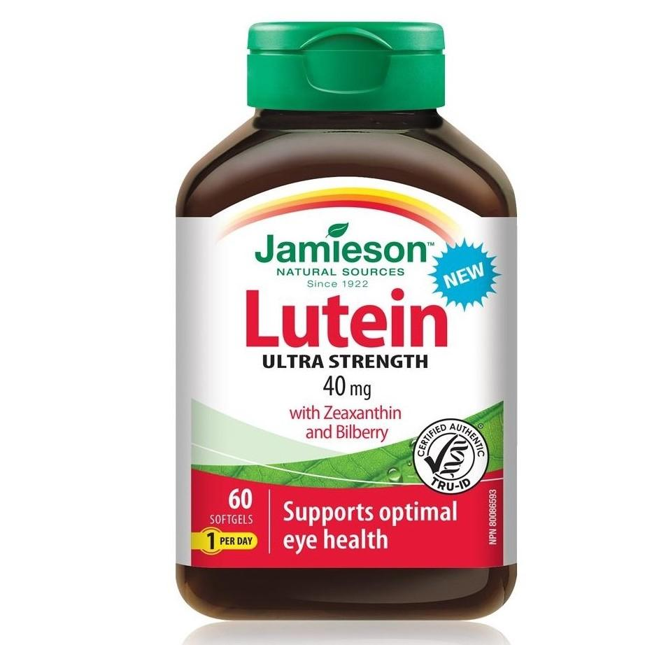 Jamieson Lutein 40mg with Zeaxanthin & Bilberry 60 Softgels