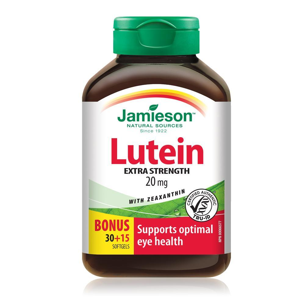 Jamieson Lutein 20mg with Zeaxanthin 45 Softgels