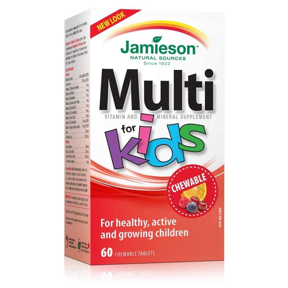Jamieson Kids Multivitamin Chewable 60 Tablets
