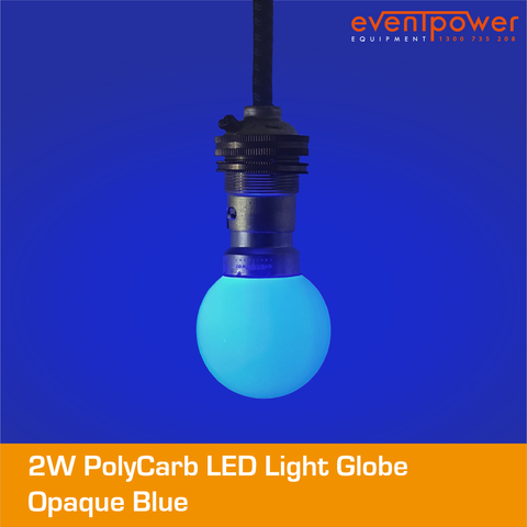 2W PolyCarb Opaque Blue LED dimmable B22 Bayonet
