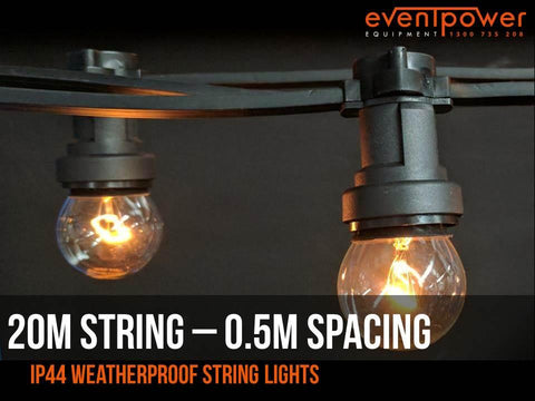 Festoon Lights - Cable Belt - 20M - 50cm spacing