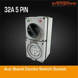 Aus Stand Combo Switch Socket 32A 5 PIN