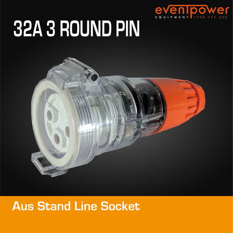 Aus Stand Line Socket 20A 3 Round PIN
