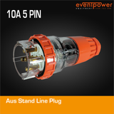 Aus Stand Line Plug 10A 5 PIN