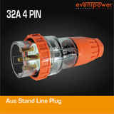 Aus Stand Line plug 32A 4 PIN