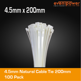 4.5mm Natural Cable Tie 200mm 100pk