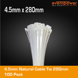 4.5mm Natural Cable Tie 280mm 100 pack