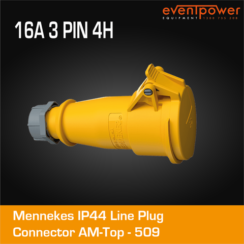 Mennekes IP44 Line Socket - 16A 3 PIN