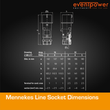 Mennekes IP44 Line Socket - 16A 5 PIN