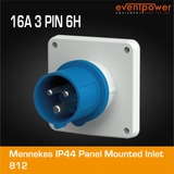 Mennekes IP44 Panel Mounted Inlet - 16A 3 PIN