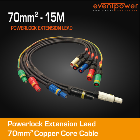 15M 70mm2 Powerlock Set