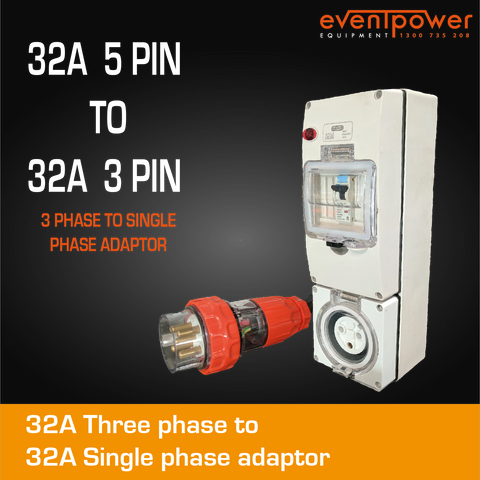 32A 3 Phase to 32A Single Phase